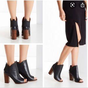 Kelsi Dagger black peeptoe Gemma heeled booties